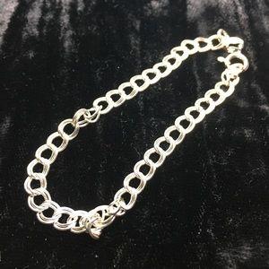 Small sterling silver bracelet
